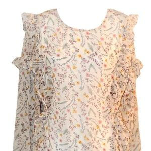 Flower blouse with ruffles